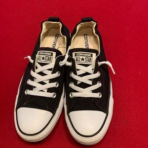 Converse black shoes Size 8.5